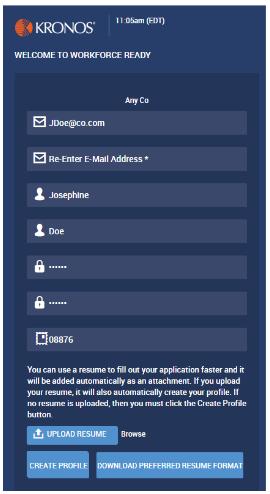 HR Applicant Login and Resume Upload